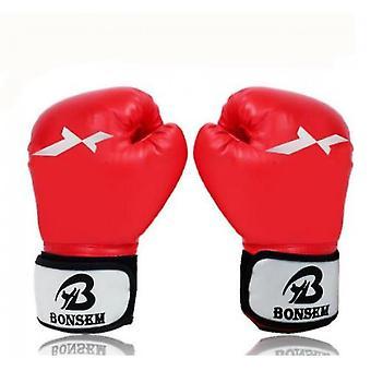Guantes de boxeo de los hombres (Rojo)