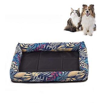 Sommer Haustier nicht abnehmbare Seite Hund Matte Haustier Bett, Technische Daten: L 65X55X8cm(Wald)
