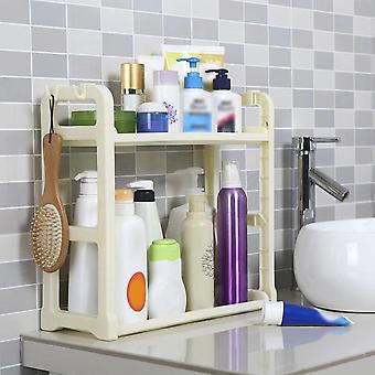 2 Layers Kitchen Organizer Shelf Holder Cabinet Spice Standing Rack Organizer Holders & Racks