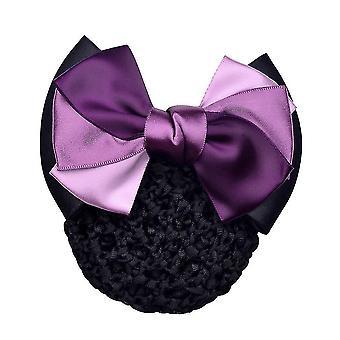 Bowknot Net Bun Snood Mesh Netz Kopfbedeckung haarsträrken