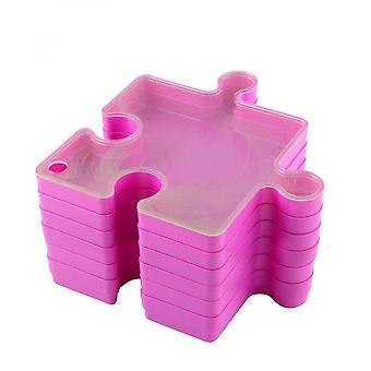 Stackable Puzzle Box Puzzle Sorting Tray Plastic Sorter Puzzle Storage Box