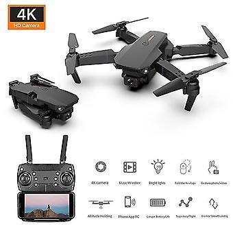 2021 Nuevo mini dron 4k 1080p hd cámara wifi plegables quadcopter rc drone juguete e88
