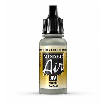 Vallejo Model Air 45 Cement Grey - 17ml Acrylic Airbrush Paint