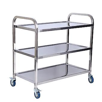 Tiers Kitchen Catering Rolling Trolley