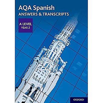 AQA A Level Spanish: Key Stage Five: AQA A Level Year 2 Spanish Answers & Transcripts (AQA A Level Spanish)