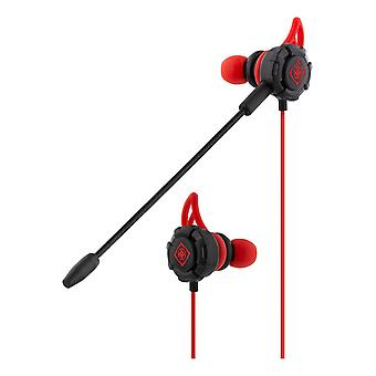 DELTACO GAMING In-ear headset with detachable microphone and earwings