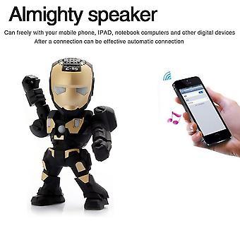 Steel Man Led Light Speakers Stereo Music Player Wireless Bluetooth Speaker