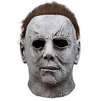 Fantasia de máscara de Halloween de Michael Myers Cosplay Latex Props Horror Mask Set