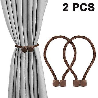 2pcs Curtain Magnetic Buckle-gray