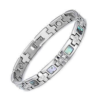 Braccialetti magnetici braccialetti per ragazze ragazze bracciale in acciaio titanio semplice shellstyle