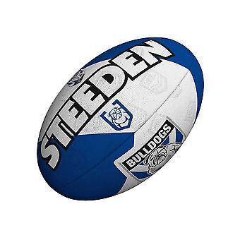 Steeden NRL Canterbury-Bankstown Bulldogs Kannattaja 2021 Rugby Ball Valkoinen/Sininen
