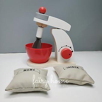 Mini Wooden Simulation Bread Coffee Maker Blender Pretend Role Play Kids Toy
