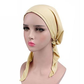 Dámske Chemo Hat Turban šatky na hlavu pre tied bandana hair cover čiapka pevná farba