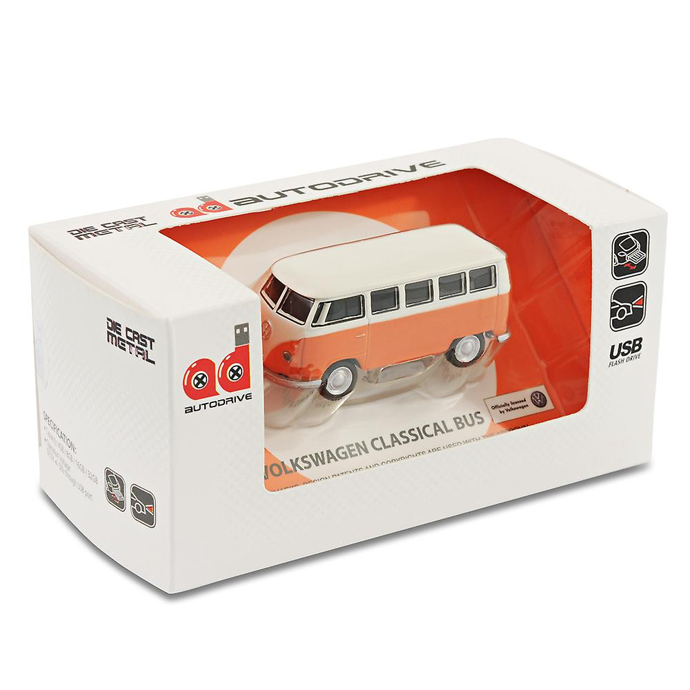 VW Camper Van Computer USB Memory Stick 16Gb - Orange