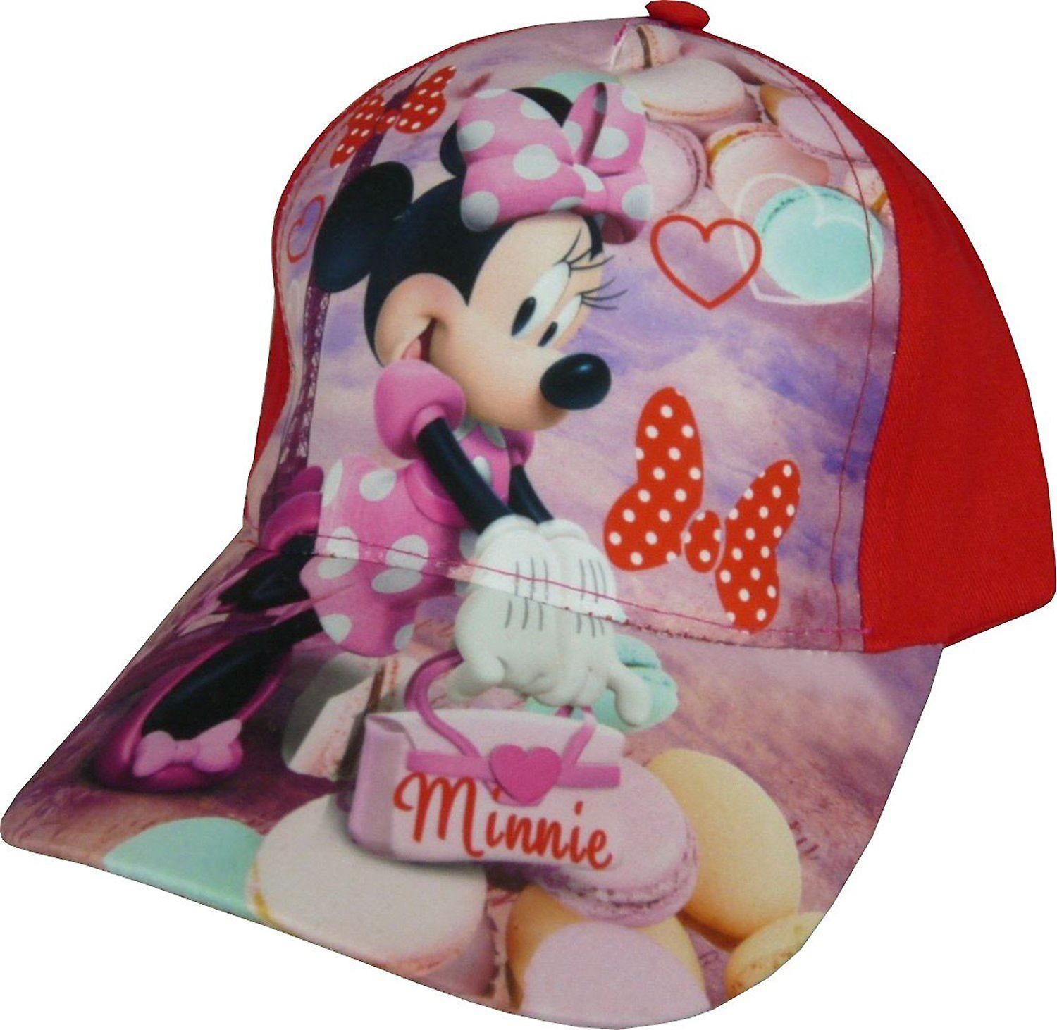 Girls Disney Minnie Mouse Baseball Cap With Adjustable