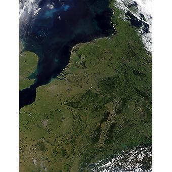 Low maat Belgia, Luxemburg ja Alankomaat Juliste Tulosta