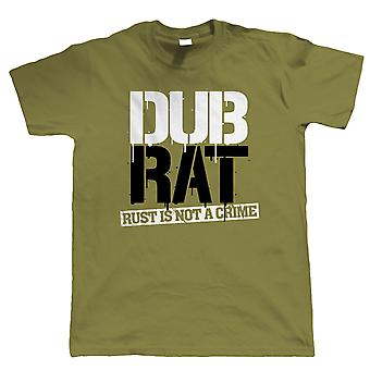 Dub Rat T Shirt - Vee Dub Camper Van Split Screen Resto Cal Look Hood Ride Rod