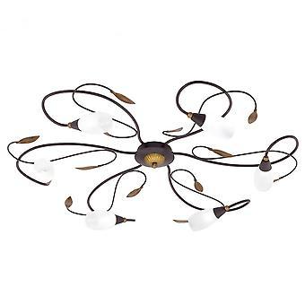 Eglo Gerbera 1 6 Light Modern Flush Plafond Light Antique Brown /