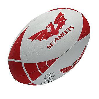GILBERT skarlagen tilhenger rugby ball 2014