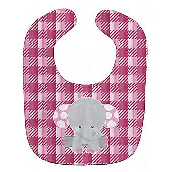 كارولين الكنوز BB6952BIB الفيل الوردي القماش القطني مريلة بيبي