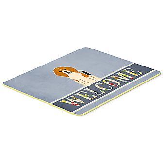 Carolines Treasures  BB5621CMT Beagle Tricolor Welcome Kitchen or Bath Mat 20x30