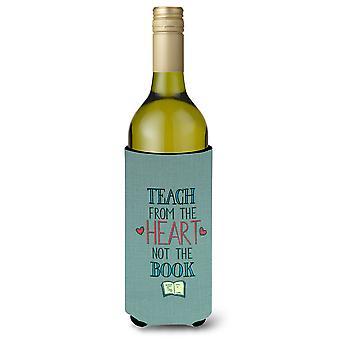 Enseñar desde el corazón profesor botella de vino Beverge aislador Hugger