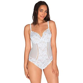 Sans Complexe 20564 Women's Arum White Lace Non-Padded Underwired Bodysuit Body