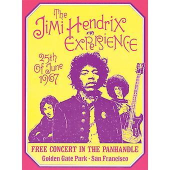Jimi Hendrix Experience San Francisco 1967 plakat Print af Dennis Loren (15 x 20)