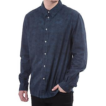 Paul Smith Jeans Mens Ls Tailored Fit Shirt Geo Print