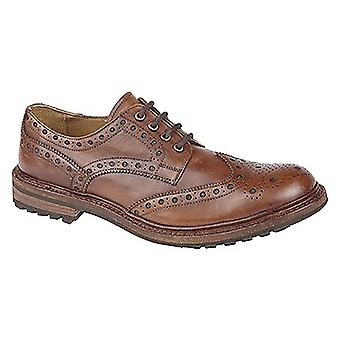 Woodland Mens Lace Up ronde teen Brogues