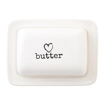 Premier Housewares charme smør skål, hvid