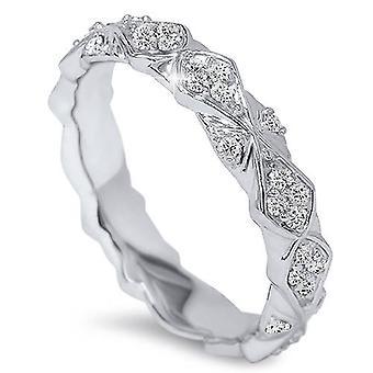1 / 2ct Vintage skulpturelle Diamond evigheden Ring 14K hvidguld