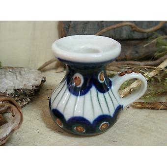 Kaars houders, miniatuur, traditie, 10 & 13, Bunzlauer aardewerk - BSN 5866