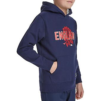 Canterbury Boys England Rose Printed Pull Over Hoodie Top
