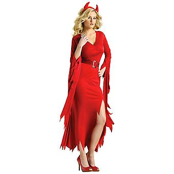 Gothic Devil Diabla Red Halloween Dress Up Women Costume