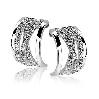 Orphelia Silver 925 Earring 3 Line Zirconium  ZO-5182
