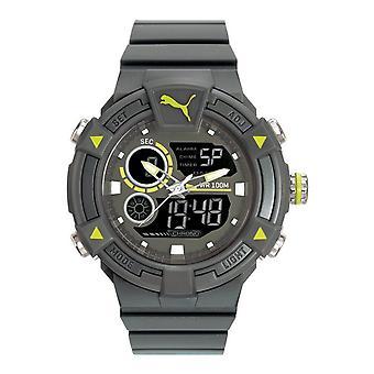 PUMA montre mens montre de poignet silicone de numérique analogique montre PU911391002 COLLIDE