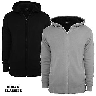 Urban classics knitted winter Zip Hoodie