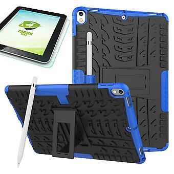 Hybrid outdoor protective case blue for Apple iPad Pro 10.5 2017 bag + 0.4 H9 tempered glass