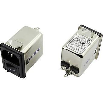 Yunpen YR06A3 EMI filter + switch, + IEC socket 250 V AC 6 A 0.7 mH (L x W x H) 41.1 x 31.6 x 56 mm 1 pc(s)