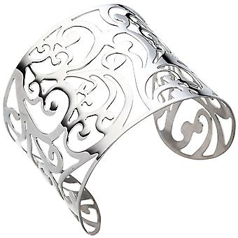 Bracelet silver wide Bangle cuff / open Bangle made of stainless steel
