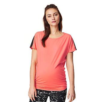 Noppies 66504-C072 Women's Feline Coral Orange Maternity Sports T-Shirt