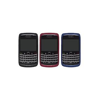 OEM BlackBerry 9700 9780 Silicone Skin - Black, Red, Blue (3 Pack)