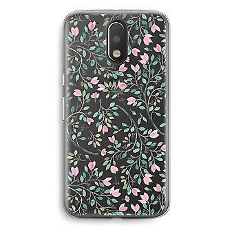Motorola Moto G4/G4 Plus Transparent fodral (Soft) - nätta blommor
