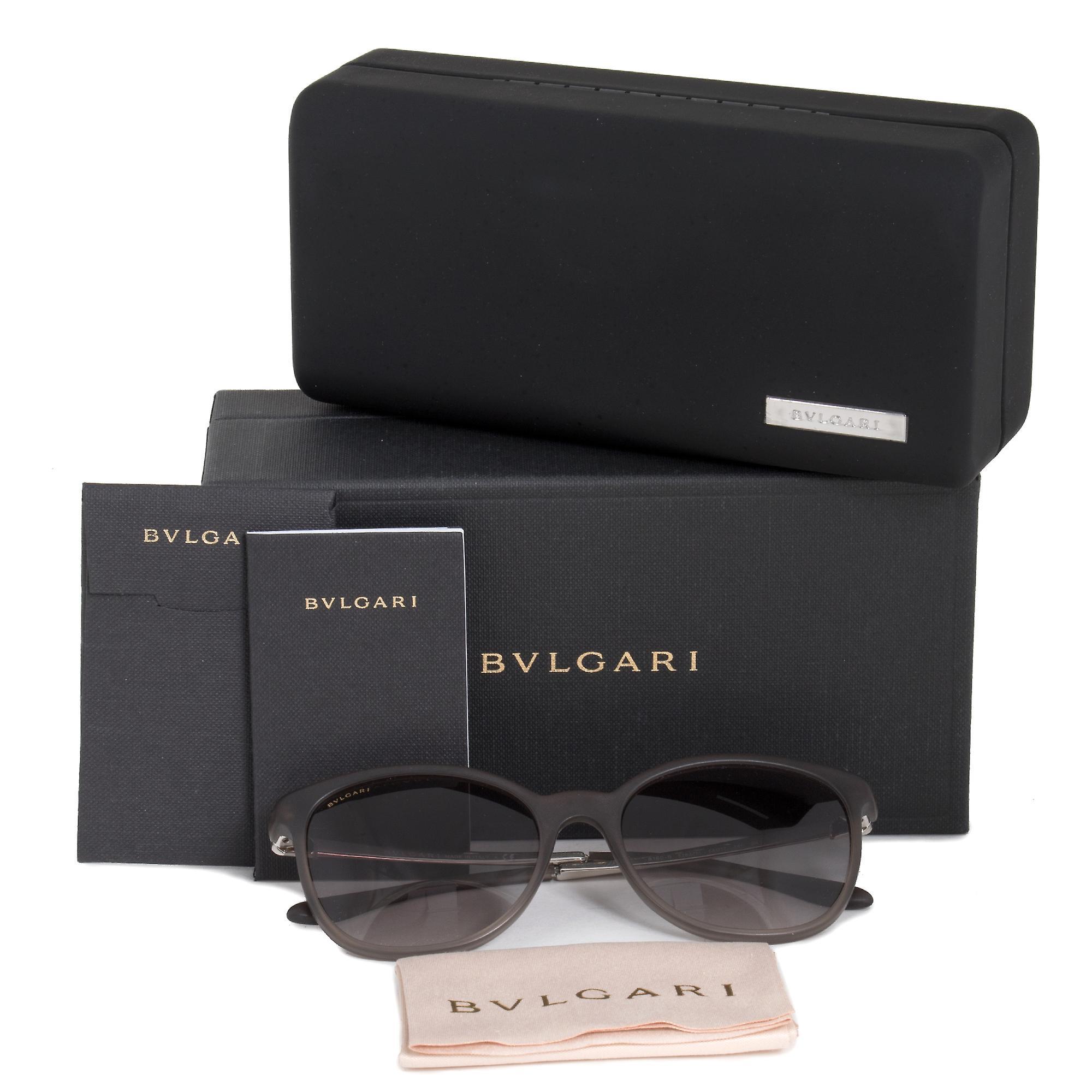Bvlgari runde solbriller BV8160B 526211 54 | Grå brun Acetate ramme | Grå Gradient linser
