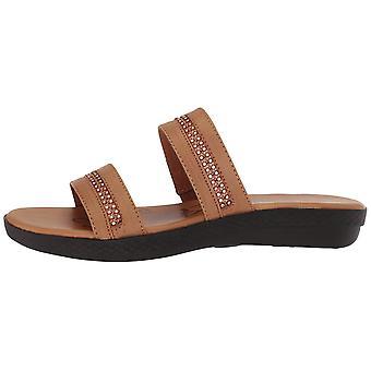 Easy Street Womens Dionne Open Toe Casual Slide Sandals