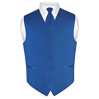Men's Dress Vest & Skinny NeckTie Solid Color 2.5