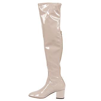 Pelle verniciata Valentino Stivali sopra il ginocchio | Poudre