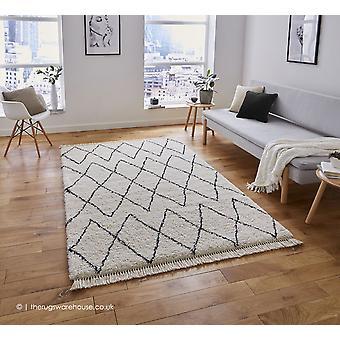 Mohad schwarz weiße Teppich