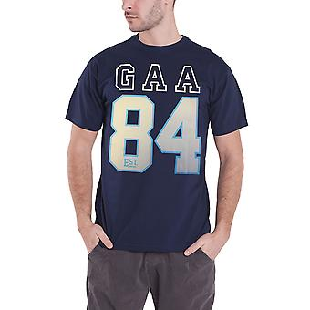 Official Mens GAA T Shirt Established 1884 Hurling Sport Logo Hurling New Blue
